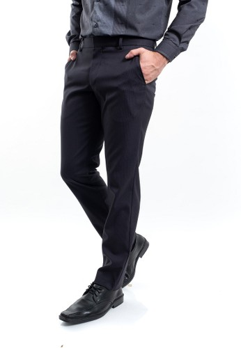 MANLY black MANLY Milkbank Slim Fit Black Formal F4F38AA84752ACGS_1