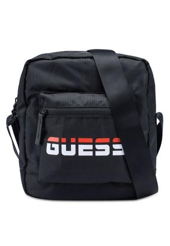 Guess black Duo Crossbody Bag 7AF96AC7328A1FGS_1