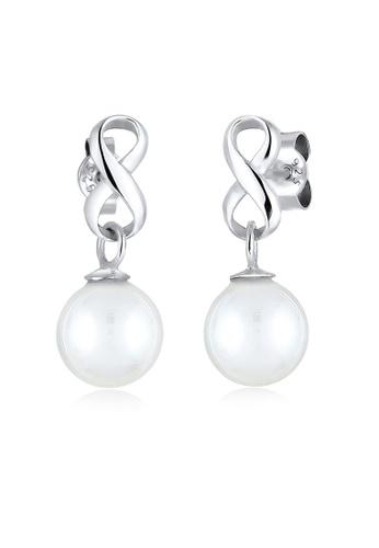 ELLI GERMANY silver Elli Germany Earrings Infinity Shell Pearls 925 Sterling Silver 3EFDEACAD23494GS_1
