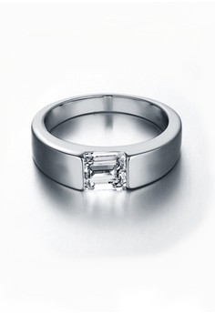 Tyrion White Gold Plated Ring for Men Size 9