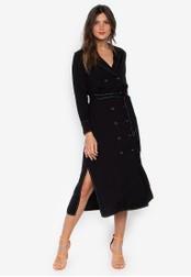 DEBENHAMS black Red Herring - Rh Top Stitch Dress F9998AA69A2385GS_1