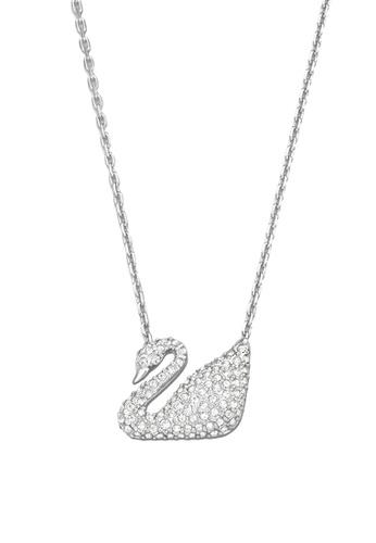 Swarovski silver Swan Necklace 92890ACB7964B8GS_1