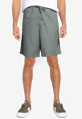 GAP green V-Linen Easy Shorts 1960FAA1807498GS_1