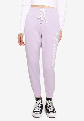 Hollister purple Logo Jogger Pants 36019AA43C9B9AGS_1