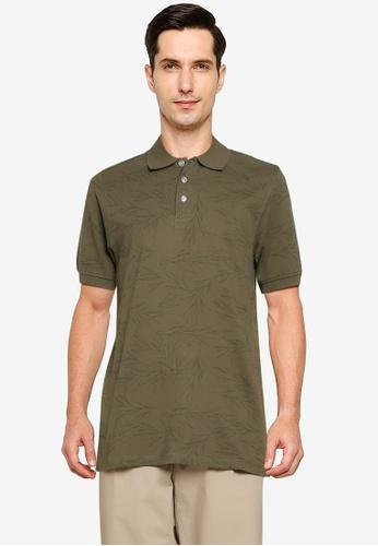 Electro Denim Lab green Printed Cotton Polo Shirt E2A22AA3AB90F1GS_1