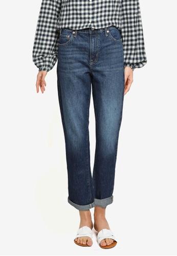 GAP blue Mid Rise Universal Slim Boyfriend Jeans 8784BAA4A4CC04GS_1