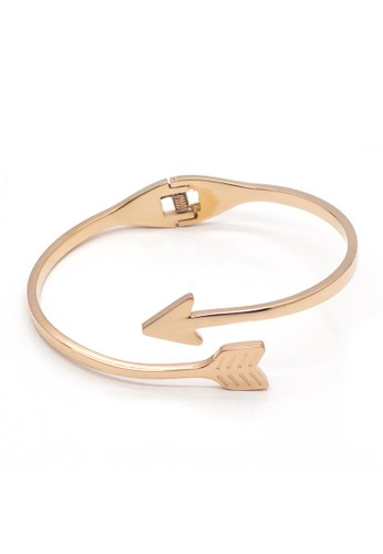 VERNYX - Women's Twist Arrow Titanium Steel Bracelet GLG6631 Gold - Gelang Wanita
