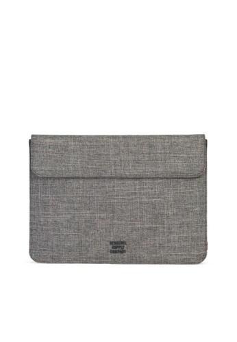"""Herschel grey Herschel Spokane Sleeve for MacBook Pro 13"""" (new) and iPad Pro 12.9"""" 50005AC35A725BGS_1"""