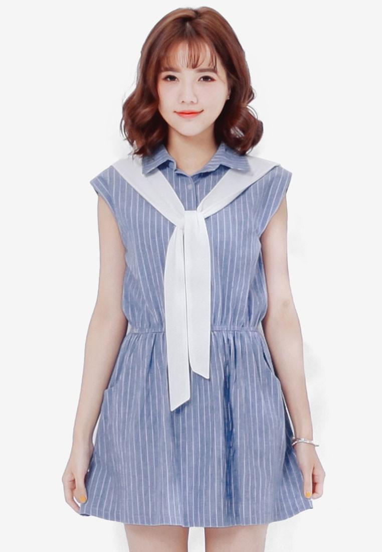 Preppy Two Piece Shirt Dress
