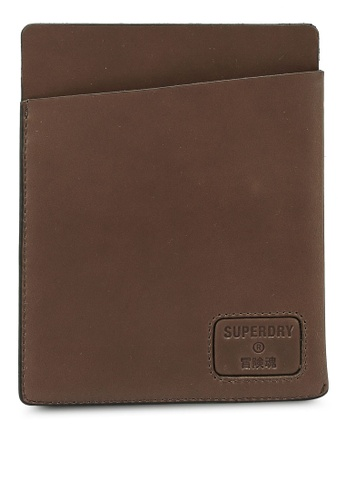 Superdry brown NYC Passport Holder 6781EACE1143AFGS_1