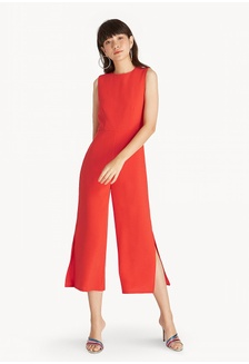 57d4ce3bf9a Sleeveless Side Slit Jumpsuit - Orange F4C76AAD5B6FFEGS 1