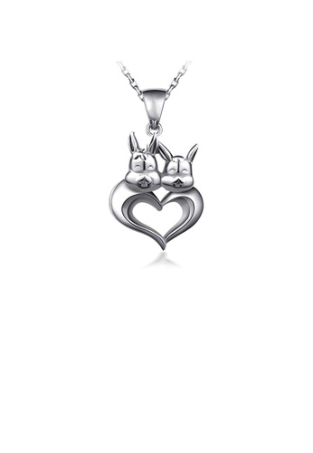 Glamorousky silver 925 Sterling Silver Chinese Zodiac Rabbit Pendant with Necklace 5A4D8ACB825920GS_1