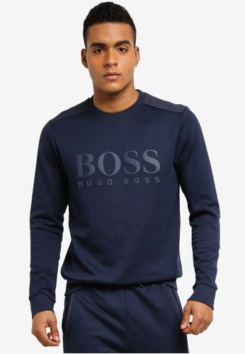 BOSS navy Salbo Sweatshirt BO517AA0STZ1MY_1