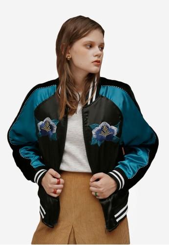 毛皮圖案刺繡棒esprit暢貨中心球外套, 服飾, 外套