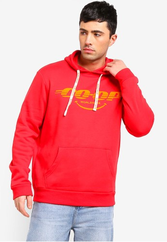 Cotton On red and multi Fleece Pullover Hoodie FC63FAA358ED33GS_1