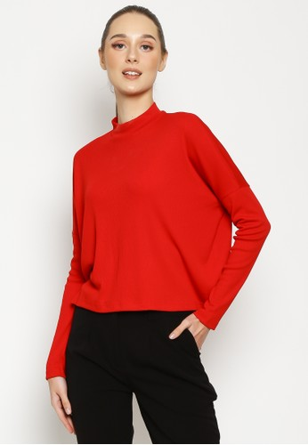 VALINO red VALINO LADIES BASIC RIBBED TEE C0FDFAA97064B1GS_1