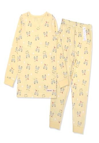 Organic mom yellow Organic Cotton Dolly Rabbit Lightweight Long Sleeves Pjs 66F18KA34F49A9GS_1
