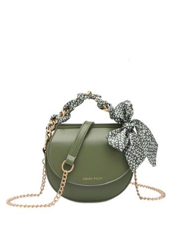 Swiss Polo green Swiss Polo Ladies Chain Sling Bag 0C428ACEAB8A55GS_1
