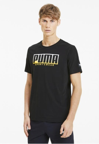 puma black ATHLETICS Big Logo Men's Tee D9387AAB582DEAGS_1