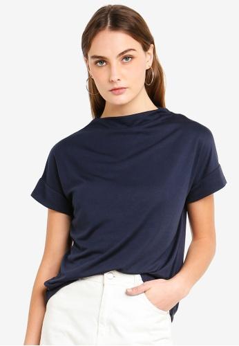 ESPRIT 海軍藍色 短袖T恤 7EE37AAB022C07GS_1