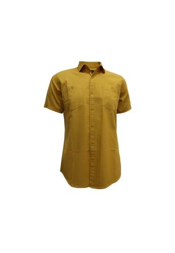 Red Cliff yellow Red Cliff 6B0026W - Kemeja Pria Lengan Pendek DFEA2AAFC7A7C9GS_1