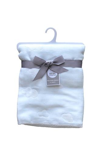 Little Kooma blue Baby 5 Layers Super Soft Muslin Blanket - Blue Cloud 13DF5KCE9915EAGS_1