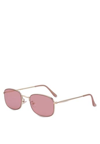 Mango pink Metal Sunglasses 487F6GLE67F4EBGS_1