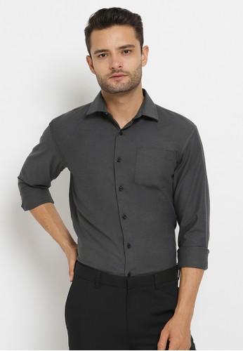 Crow grey CROW KIRIN Oxford Grey Shirt Ver 2 / Kemeja Oxford F7515AAE2AFBD5GS_1