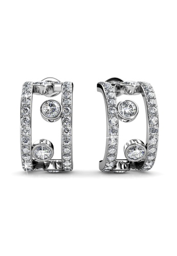 Her Jewellery Laurels Earrings -  Made with premium grade crystals from Austria HE210AC0HBE9SG_1