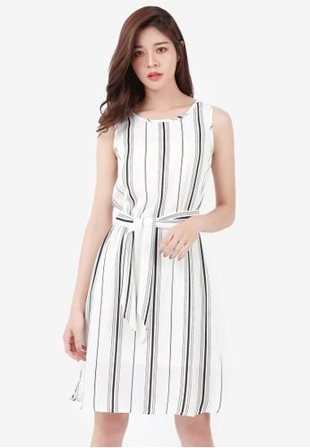 4cf0ce24a13f Shop Kodz Striped Tie-Waist Dress Online on ZALORA Philippines