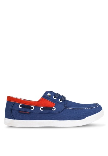 North Star blue Canvas Boat Shoes NO159SH0RCZBMY_1
