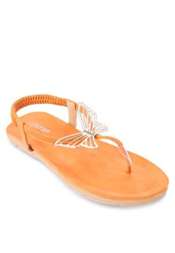 蝴蝶夾腳繞踝涼鞋, 女鞋esprit 內衣, 鞋