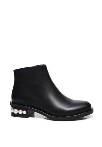 Sunnydaysweety black Simple Black Beads Short Boots A010222 B98EDSHA63F4EAGS_1