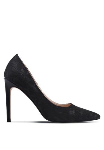 ZALORA black Jacquard High Pump Heels 31236SHECD9D2BGS_1