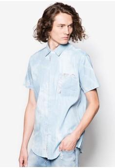 Contrast Pocket Tropical Short Sleeve Shirt