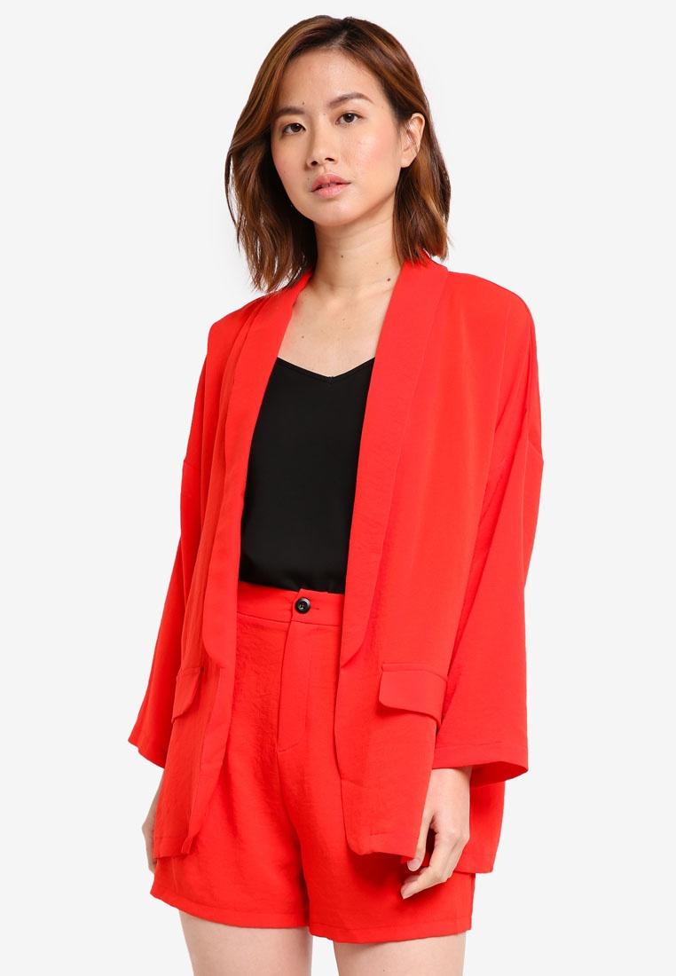 Oversized Blazer ZALORA Oversized ZALORA Blazer Red Red wXq0tIa