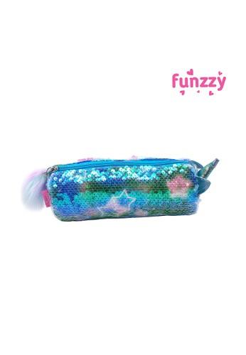 Funzzy blue Funzzy Unicorn Glitter Pencil Case Blue EC6DEKC50D9912GS_1