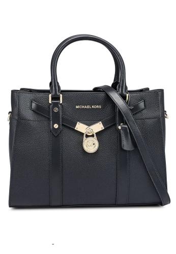 MICHAEL KORS black Nouveau Hamilton L Satchel Bag (zt) 92634AC50020DDGS_1