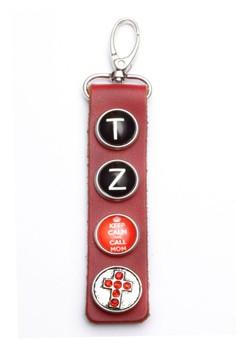 Genuine Leather 4-Snap Keychain