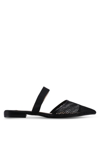 Something Borrowed black Contrast Slip-on Flats F86A1SH1D95E6BGS_1