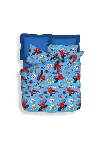 Eurotex Marvel Spiderman Web Slinger, Summer Light Quilt. A2352HLB17F6CDGS_1