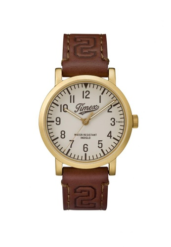 TIMEX brown Timex Original University -Brown Leather Strap - Silver Tone Case (TW2P96700) TI857AC97LHYSG_1