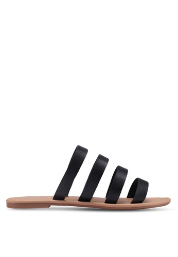Rubi black Everyday Multi Strap Slides 307DCSH3F10EBFGS_1