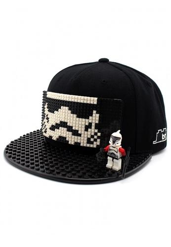 DOSSCAPS black BRICKBRICK Stormtrooper BasicCap - All Black (Small) DO290AC47MNGMY_1