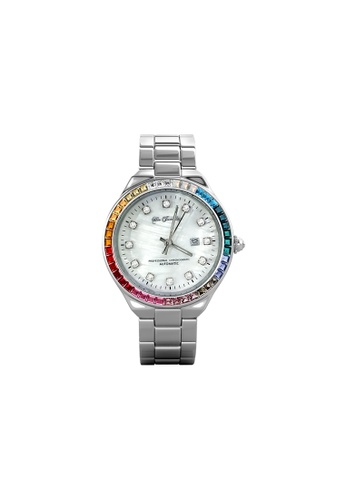 Her Jewellery Rainbow Shell Dial Watch (A) - Made with premium grade crystals from Austria F82BCAC705919BGS_1