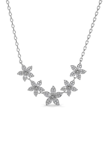 Her Jewellery silver Bloom Quint Pendant - Made with premium grade crystals from Austria FB231AC27BC59EGS_1