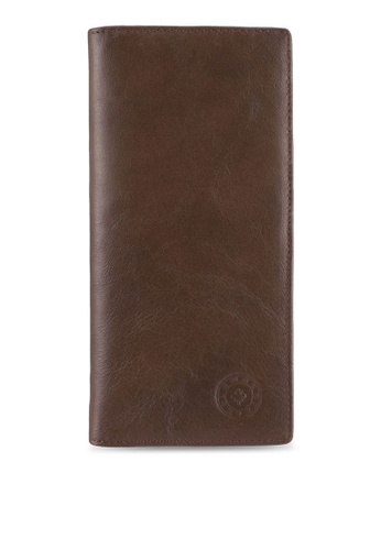 Lumberjacks brown Lumberjacks Genuine Leather Bi-Fold Long Wallet LU545AC0SMDAMY_1