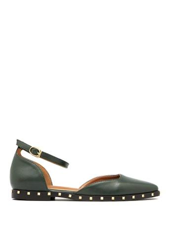 Carlo Rino green Carlo Rino 33350-A001-16 D'orsay Flats Sneaker (Green) D74AASHC3B76F0GS_1