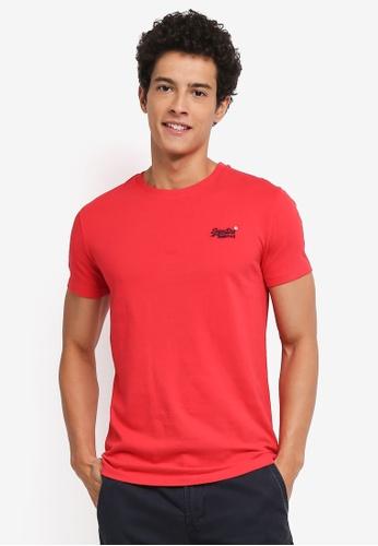Superdry 紅色 短袖Logo印花T恤 DEC83AAD0C6E1FGS_1