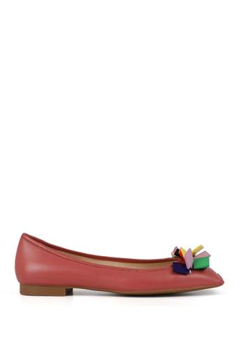 Miomia 紅色 膠片方頭平底鞋 9A4AASHCFC045EGS_1